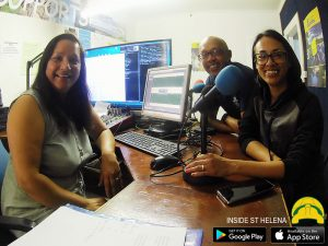 Darrin and Sharon Henry with Tammy in Saint FM Studio