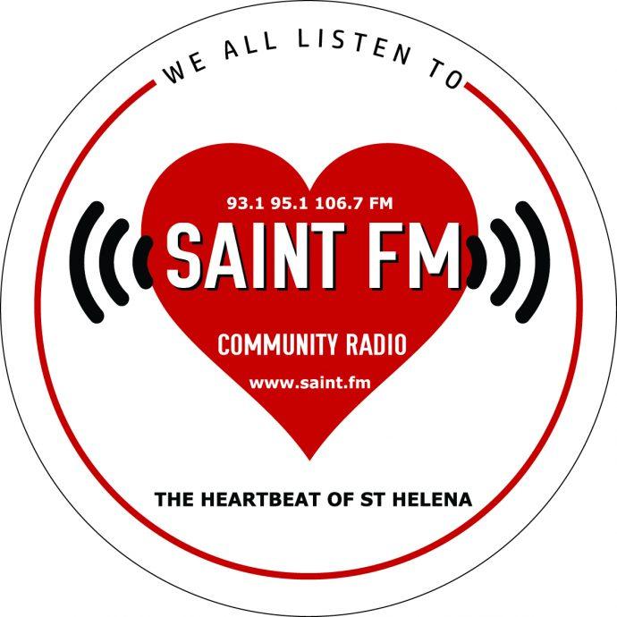 Saint FM We All Listen Logo